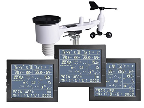 Estacion meteorologica profesional Froggit WH4000 se 3 pantallas